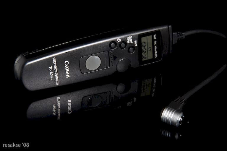 Use a remote shutter release with timer