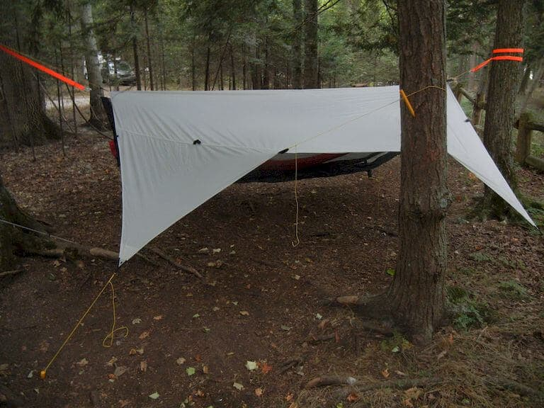 Make a hammock with tarp