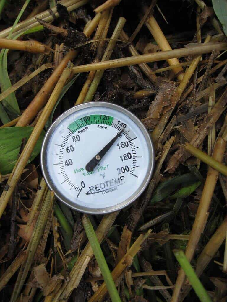Use a compost thermometer