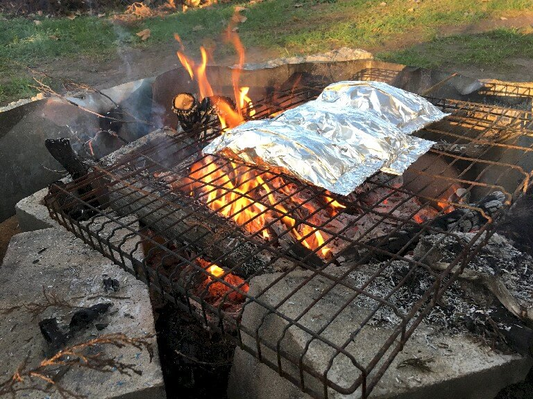 Cook your food in aluminum foil packets