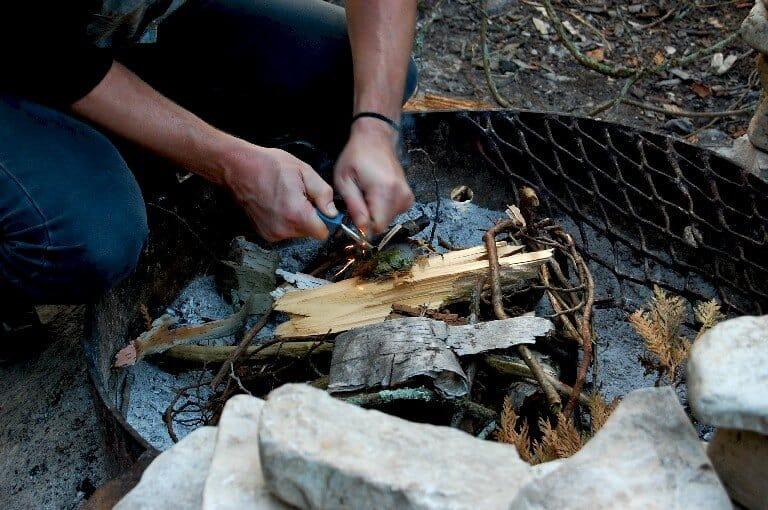 How to light a fire with a DIY firestarter