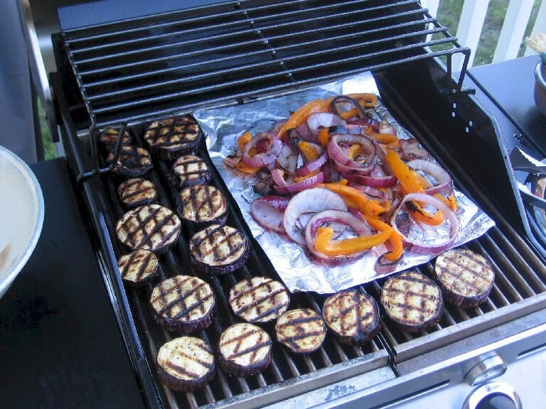 Grilling Eggplant and other Vegetables