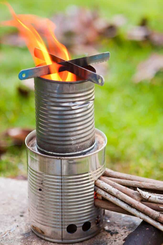 How to make a camp lantern out of tin cans