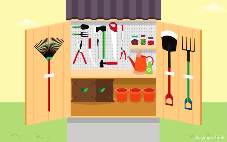 Organize Garden Shed