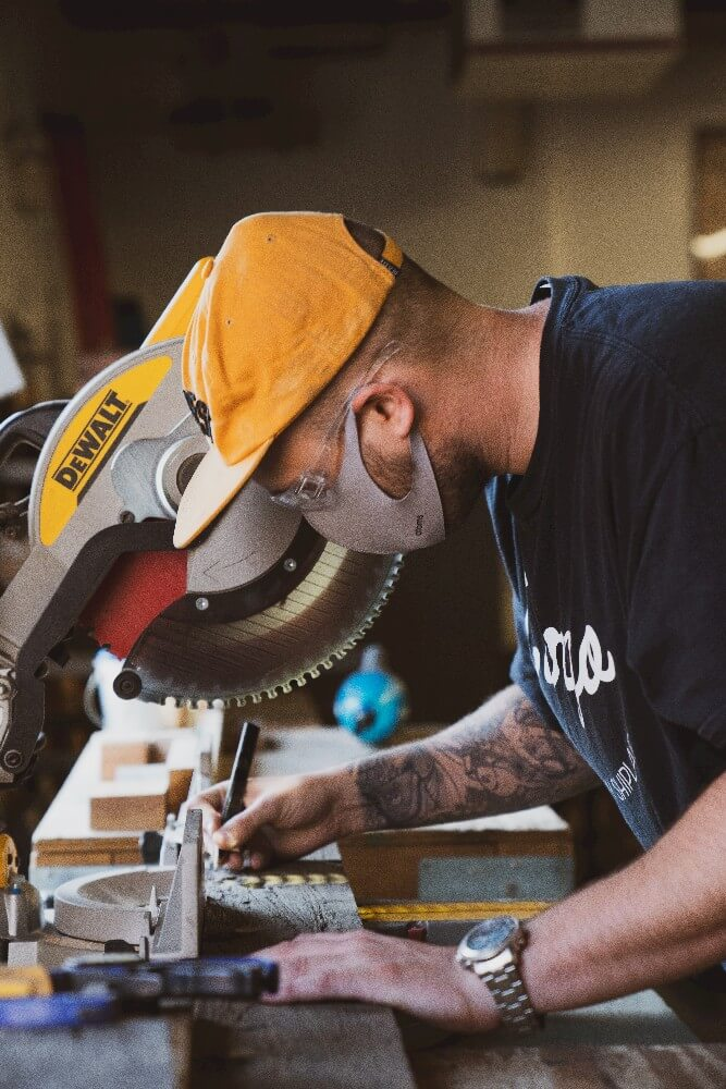 A miter saw is one of the best woodworking tools